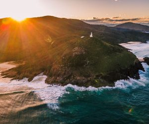 Smoky Cape Lighthouse drone looking north_Macleay Valley Coast