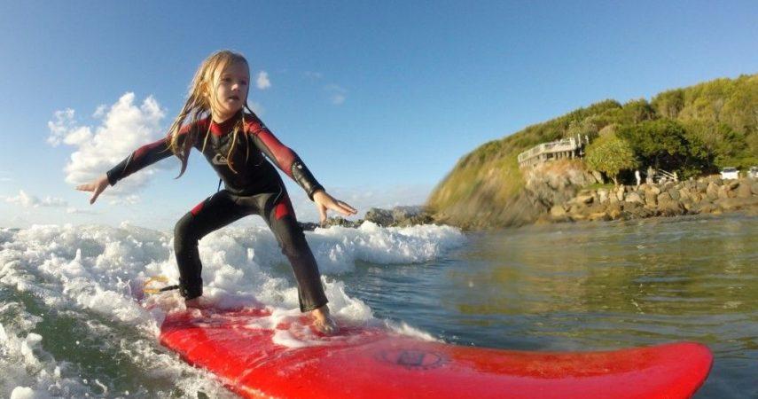 Kid Surfing_Macleay Valley Coast