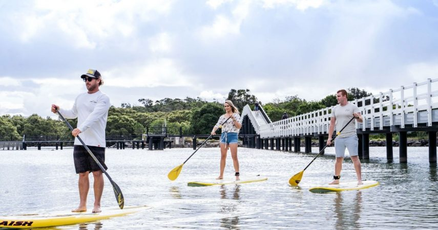 Macleay Valley Coast_Hero Banner_ South West Rocks SUP with bridge