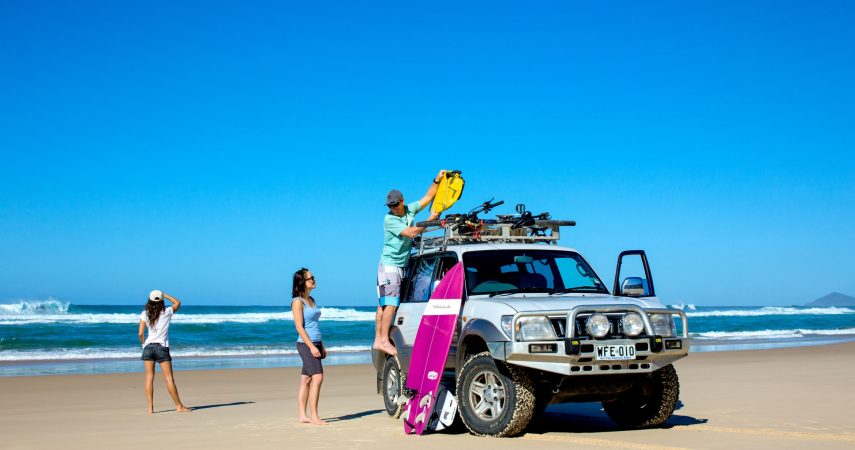Packing the 4WD on South Smoky Beach Macleay Valley Coast